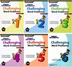 Singapore Math Challenging Word Problems Complete 6 Books Set