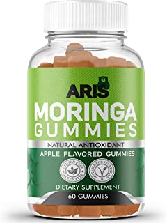 Sponsored Ad - Aris Moringa Gummies from Miracle Tree Leaf, Rich in Vitamins and Antioxidants. This Superfood Supplement i...