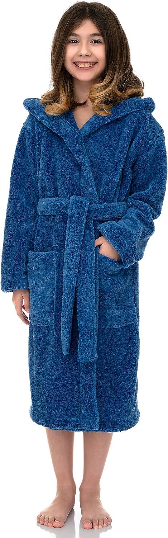 TowelSelections Girls Robe Kids 2021 Plush Hooded El Paso Mall Bathrobe Fleece