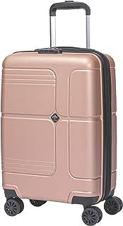 LYS - Valise Cabine Extensible Trolley 55x35x20 cm Plus 7 cm souflet Ultra léger 4 Roues doublées ABS Rigide Bagage à Main...