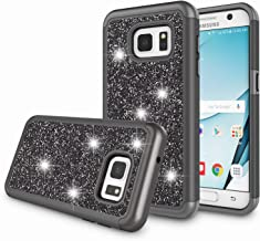 Zectoo Galaxy S7 Case for Girls, S7 Bling Case, Bling Glitter Dual Layer TPU + Hard PC Shock Absorbing Hybrid Defender Shinning Protective Shell Cover for Samsung Galaxy S7 G930 - Black