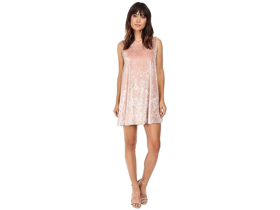 BB Dakota Astell Velvet Shift Dress (Champange) Women