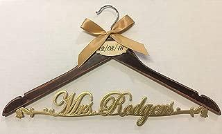 Wedding hanger vintage hanger, bride hanger, Personalized Hanger, Custom hanger, wedding gown hanger, wedding dress hanger ND