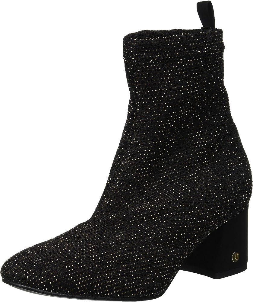 Trussardi jeans ankle boot inside zip, stivaletti per donna in tessuto elasticizzato 79A00264-9Y099999