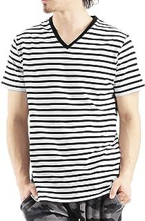 (バレッタ) Valletta 6color ベーシックボーダー柄VネックTシャツ