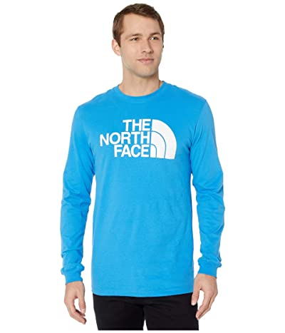The North Face Long Sleeve Half Dome Tee (Clear Lake Blue) Men