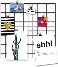 Cuadros Lifestyle Design-wandrooster 'Black Beauty' om op te hangen   modboard   roosterwand   decoratief rooster   draad...