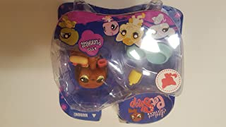 """Littlest Pet Shop """"Funniest"""" Assortment DASCHUND PUPPY (#992) with Mustard And Ketchup Bottle, Double Dog Bowl And Hot Dog..."""