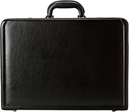 "Kenneth Cole Reaction Manhattan Leather - 4-4.75"" Expandable Computer Attache With Removable Computer Sleeve"