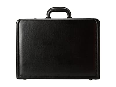 Kenneth Cole Reaction Manhattan Leather 4-4.75 Expandable Computer Attache With Removable Computer Sleeve (Black) Luggage