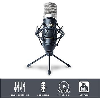 Marantz Professional MPM-1000 - Microphone à Condensateur de Studio avec Support de Bureau et Câble pour Le Podcast et Le Streaming