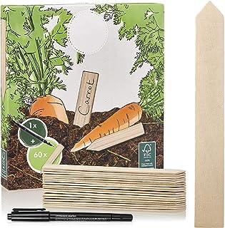 Pflanzenschilder wetterfest 60 STK Holzschilder zum Beschriften Holz Schilder Pflanzschilder Pflanzenstecker f/ür Pflanzen Garten