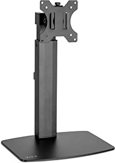 VIVO Black Tall Free Standing Single Monitor Mount Desk Stand | Pneumatic Spring Height Adjustable Monitor Arm for Screens up to 32 inches (STAND-V001V)