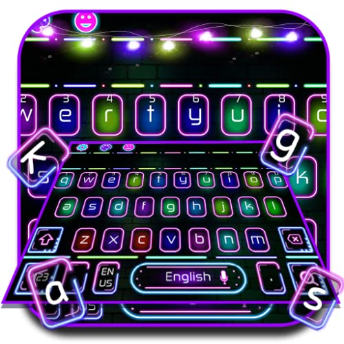 Neon LED Flash Keyboard Theme