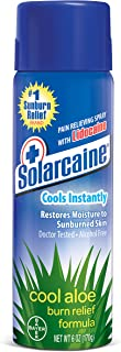 Solarcaine Cool Aloe Burn Relief Spray with Lidocaine and Aloe Vera, Doctor Tested, Fragrance Free, Alcohol Free and Non-i...