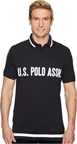 Short Sleeve Slim Fit Fancy Pique Polo Shirt