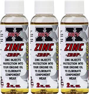REV-X ZDDP Oil Additive - Zinc for Flat Tappet Cams & Engine Break in (3)