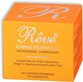 REVE Crema Facial Hialurónico y Vitamina C - Antioxidante Luminosidad Nutrición Hidratación - Hombre y Mujer Día y Noc...