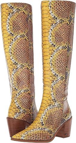Yellow Multi Sandino Snake Leather