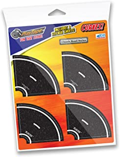 """PlayTape 2"""" Tight Curves 8 Pack – Road Car Tape Great for Kids, Sticker Roll for Cars and Train Sets, Stick to Floors and ..."""