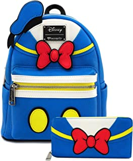 Donald Duck Cosplay Faux Leather Mini Backpack and Wallet Set