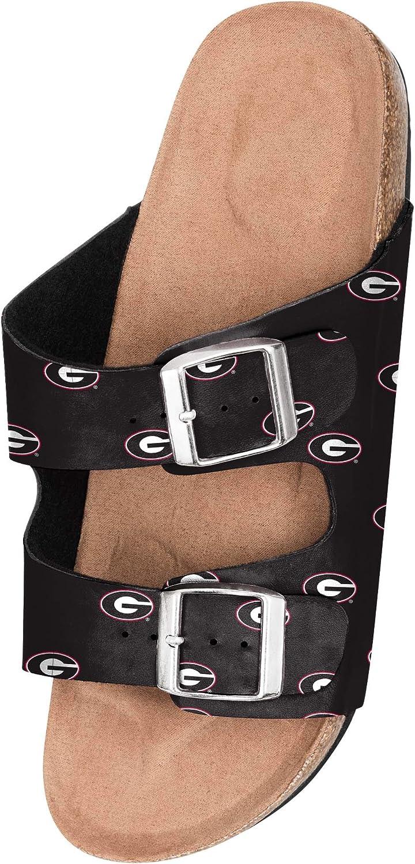 Georgia Bulldogs NCAA Womens Team Logo Double Buckle Sandal - S (5-6) : Sports & Outdoors
