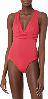 Seafolly Women's Deep V Wide Strap One Piece Swimsuit
