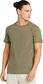 Iconic Men's 2300367 WASHED PIQUE Cotton T-Shirt, Green