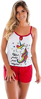 Kit com 5 Baby Doll no Atacado | Camisetinha e Short - Pijama de Verão 008