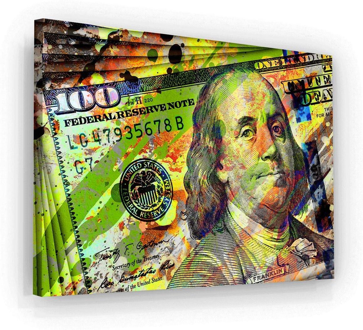 Details about  /100 Dollar Bill Colorful Design 2 Money Art Canvas Poster Print Art Decor Wall