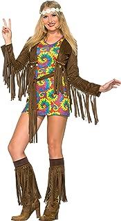 Women's Hippie Shimmy Costume Mini Dress
