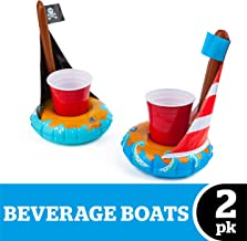 BigMouth Inc. Inflatable Floating Drink Holder, Cup Holder Floats, 2-Pack, Great for Pool Parties and Special Events