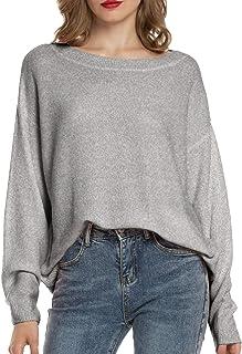 Maglione Donna Maglione Oversize Sweatshirt Felpa Invernali Primavera Manica Lunga Pullover Eleganti Stripe Casual Moda Gi...