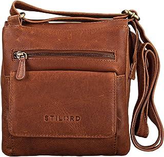 """STILORD Leon"""" Schultertasche klein Leder Herren Damen Umhängetasche Vintage Handtasche Ledertasche Crossbody Herrentasche"""