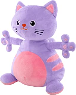 GIFTABLE WORLD Super Soft Plush Cat Stuffed Animal Toy 13 Inch Large Purple