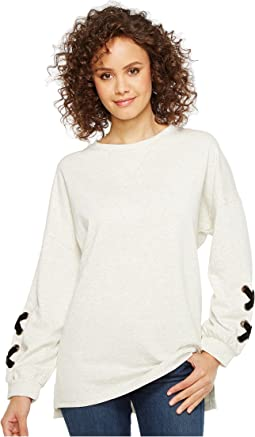 Culture Phit - Thea Sweatshirt with Lace-Up Sleeve Detail