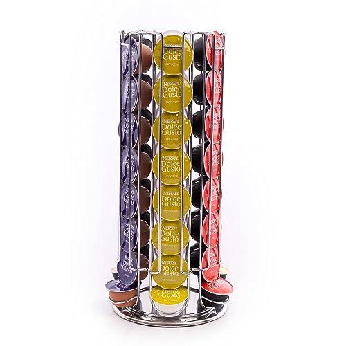 Dolce Gusto Peak Coffee D48 - Soportes para 48 cápsulas de café, color plateado