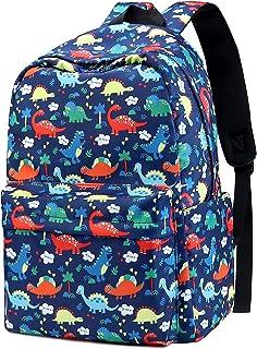 Mochilas Escolares Juveniles Niño, Dinosaurio Mochila Escolar para Infantil (Azul)