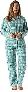 Printed Flannel Button Front PJ Pant Set