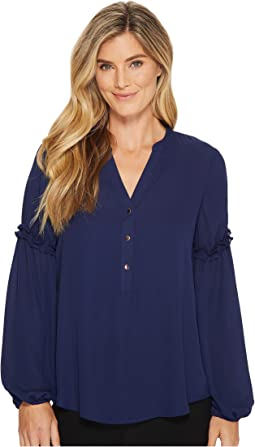 Ivanka Trump - Georgette Long Sleeve Pleasant Blouse