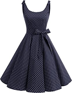 Bbonlinedress 1950`s Bowknot Vintage Retro Polka Dot Rockabilly Swing Dress