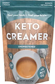 360 Nutrition KETO Creamer With MCT Oil | Unsweetened | Dairy Free Coffee Creamer Milk Substitute | Weight Loss, Energy, Fat Loss