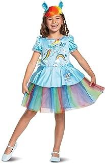 Disguise Rainbow Dash My Little Pony Tutu Deluxe Girls' Costume, Blue