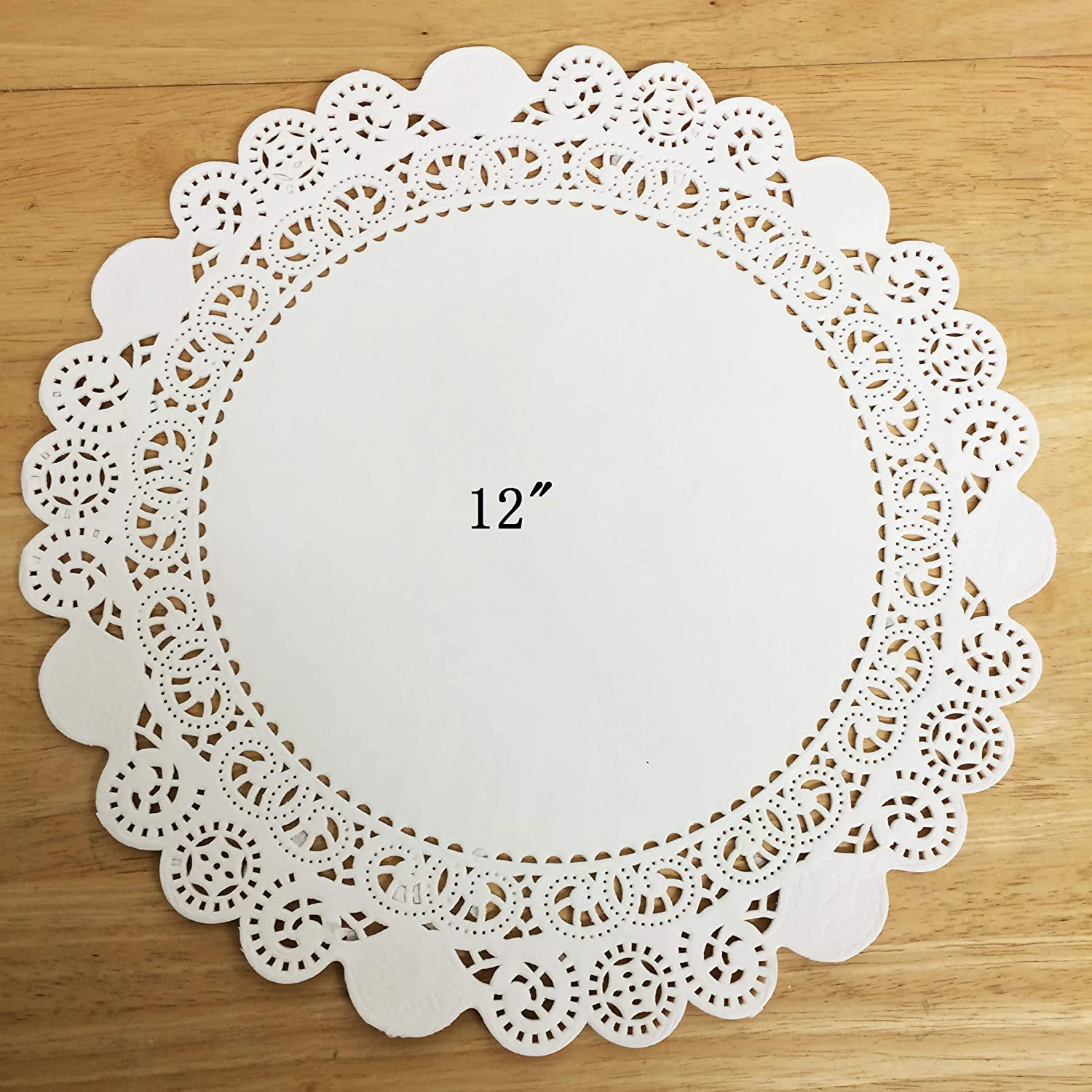 PEPPERLONELY 50 PC Daily bargain sale White Round shop Greaseproof Inch 12 Doilies
