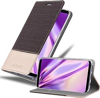 Cadorabo Funda Libro para Samsung Galaxy S8 en Antracita Oro - Cubierta Proteccíon con Cierre Magnético, Tarjetero y Función de Suporte - Etui Case Cover Carcasa