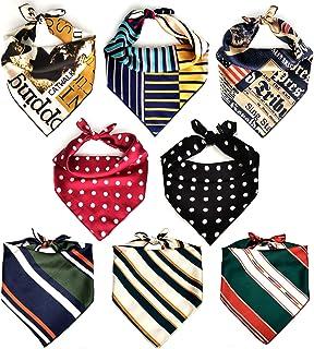 Dog Bandanas for Large Dogs, 8 Packs KOOLMOX Square Dog Scarfs, Adjustable and Washable Dog Handkerchiefs Kerchiefs Set fo...