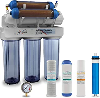 Max Water 6 Stage Aquarium Reverse Osmosis System/Reverse Osmosis System/RO Water Filtration System with Deionization Filt...
