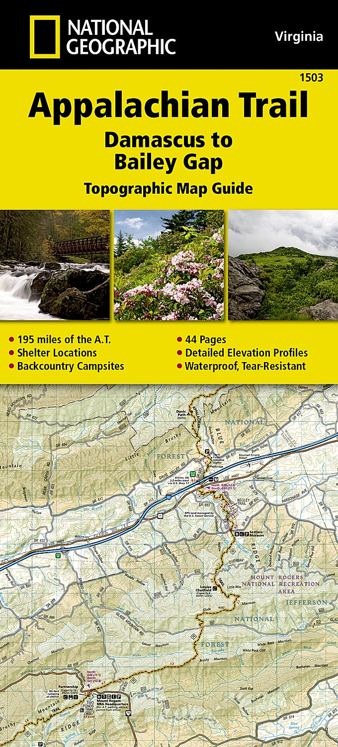 Image OfAppalachian Trail, Damascus To Bailey Gap Virginia] (National Geographic Topographic Map Guide (1503))
