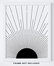 Abstract Geometric Sun Wall Art Print - 11x14