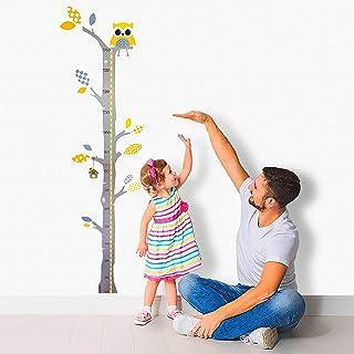 comprar comparacion Brunoko vinilos infantiles para habitacion bebe - pegatina medidor de niños para pared - vinilo decorativo medidor infanti...